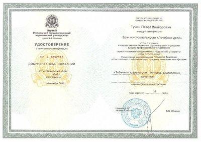 Тучин Павел Викторович - Дипломы и сертификаты 1