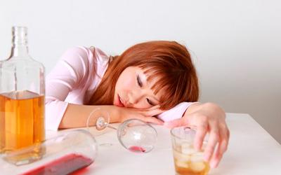 Употребление больших доз алкоголя - Квинмед